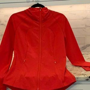 Lululemon red hooded jacket